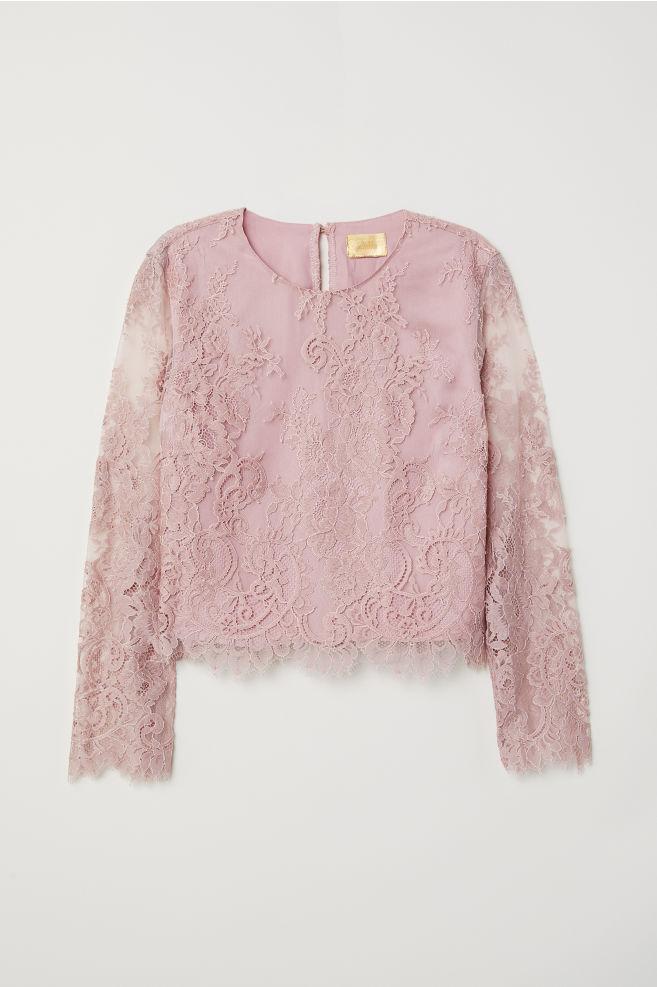 24ef2d027ffaad Lace Blouse - Vintage pink - Ladies