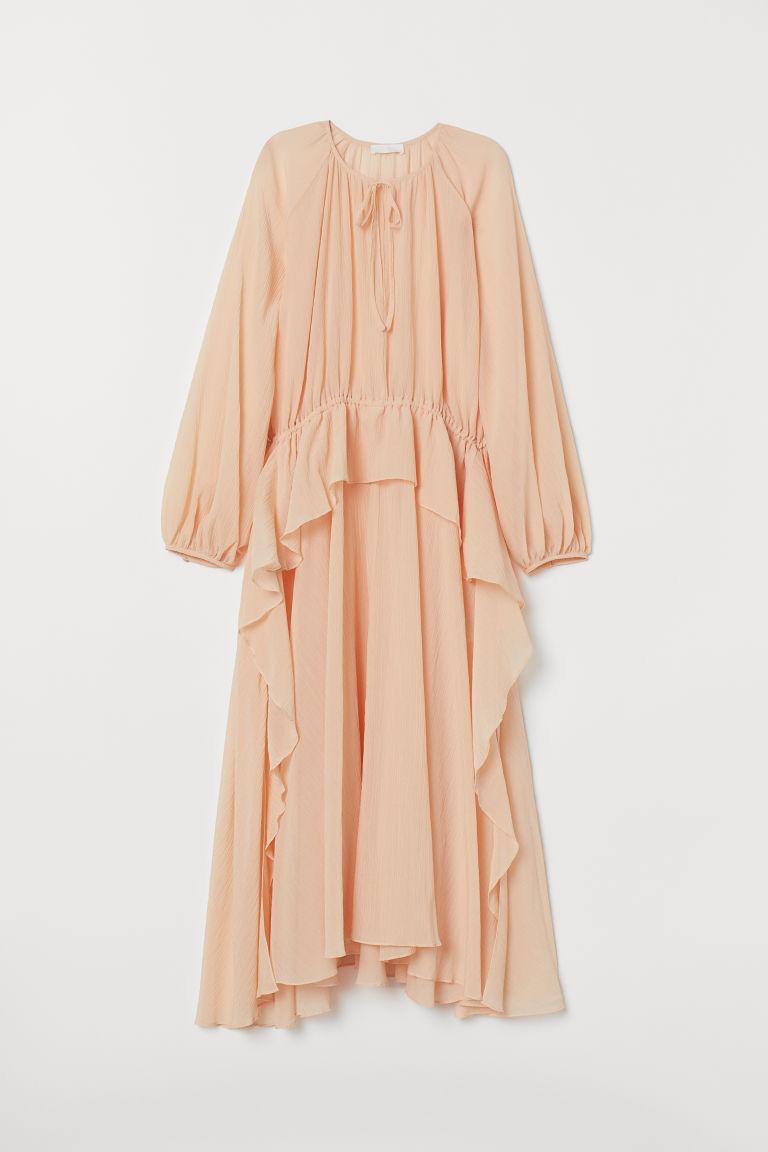 Vestido em mistura de seda - Rosa pó - SENHORA | H&M PT 5