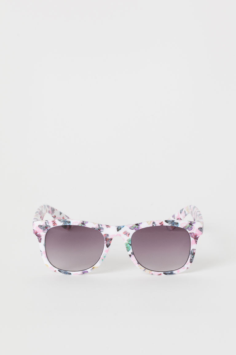 Sunglasses - White/Butterflies - Kids | H&M GB
