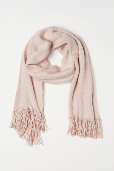 Knitted scarf - Powder pink -  | H&M IE