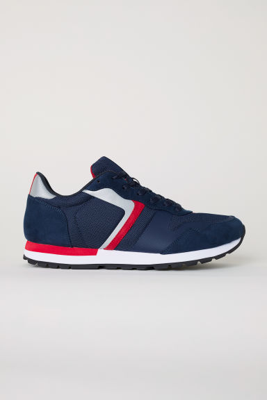 Mesh trainers - Dark blue/Red - Men | H&M