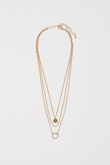 Three-strand necklace - Rose gold-coloured -  | H&M CN