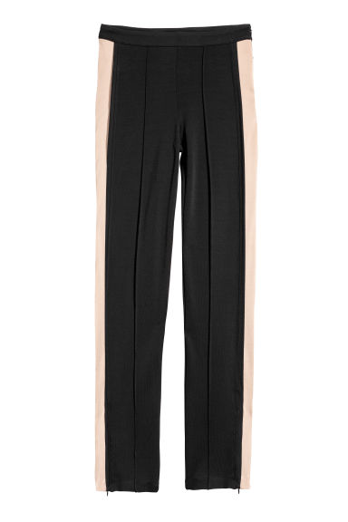 Trousers with side stripes - Black - Ladies | H&M CN
