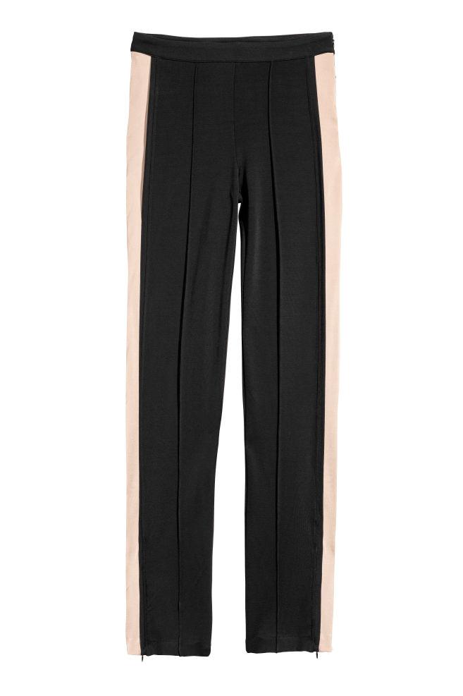 c8aeb4a4d2e39d Spodnie z lampasami - Czarny - ONA | H&M ...