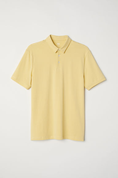 Tricou polo Slim fit - Galben-deschis -  | H&M RO