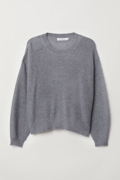 Loose-knit jumper - Grey - Ladies | H&M