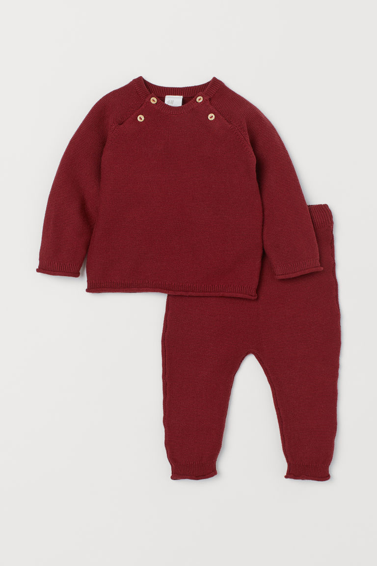 Sweater and Pants - Dark red - Kids | H&M CA