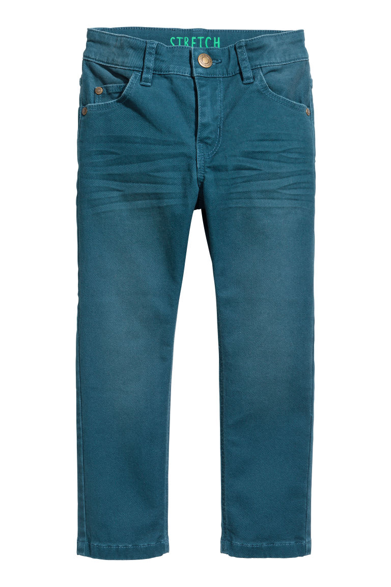 Stretch trousers - Petrol blue - Kids | H&M CN