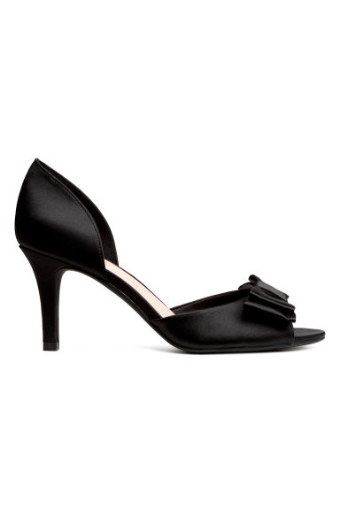 Bow-front sandals - Black - Ladies | H&M