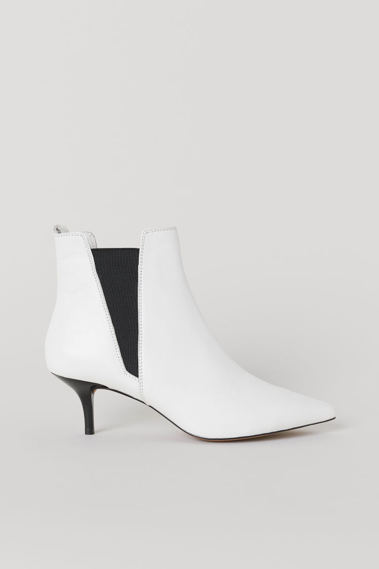 Leather boots - White - Ladies | H&M CN