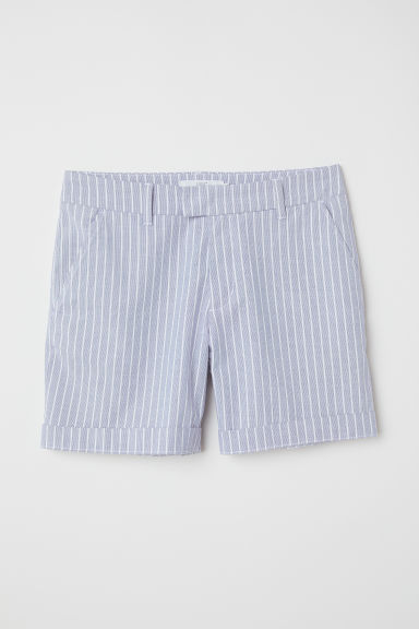 Short chino shorts - Blue/White striped - Ladies | H&M