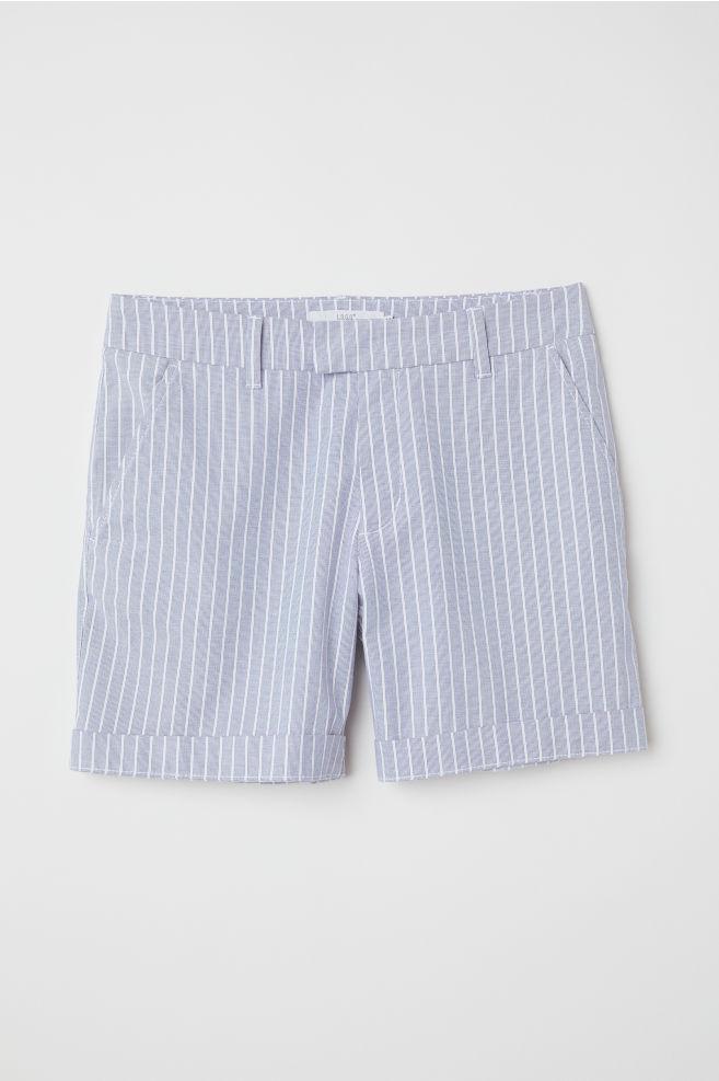 3f7c49afcb Short chino court - Bleu/blanc/rayé - FEMME   H&M ...