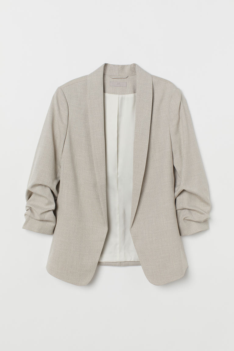 Shawl collar jacket - Beige - Ladies | H&M IE