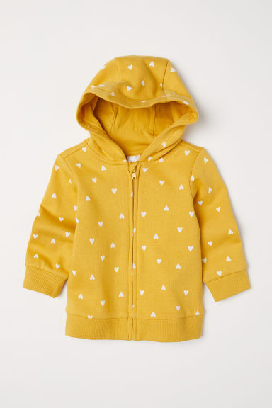 Hooded jacket - Mustard yellow/Hearts -  | H&M CN