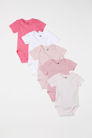 5-pack bodysuits - Light pink - Kids | H&M