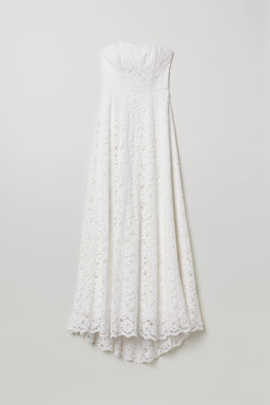 Long lace dress - Cream - Ladies | H&M
