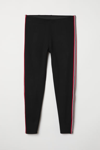 H&M+ Side-striped leggings - Black - Ladies | H&M CN