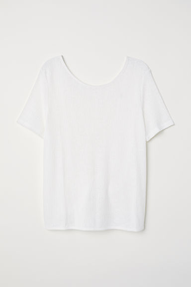 Open-backed top - White -  | H&M CN