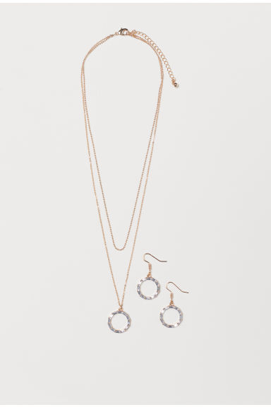 Earrings and a necklace - Gold-coloured - Ladies | H&M GB