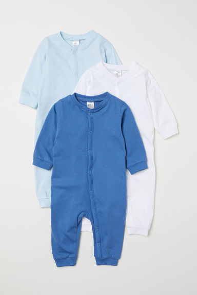 3-pack cotton pyjamas - Blue - Kids | H&M CN
