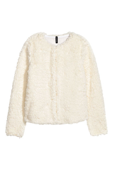 Pile jacket - Natural white -  | H&M CN