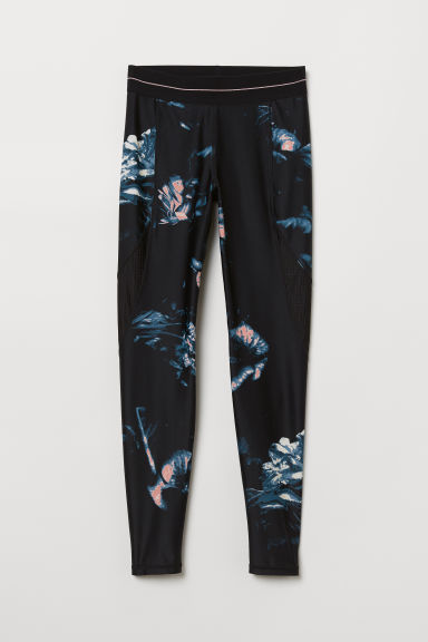Leggings sportivi - Nero/fantasia - DONNA | H&M IT
