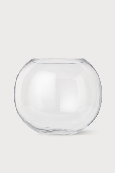 Grand vase en verre - Verre transparent -  | H&M BE