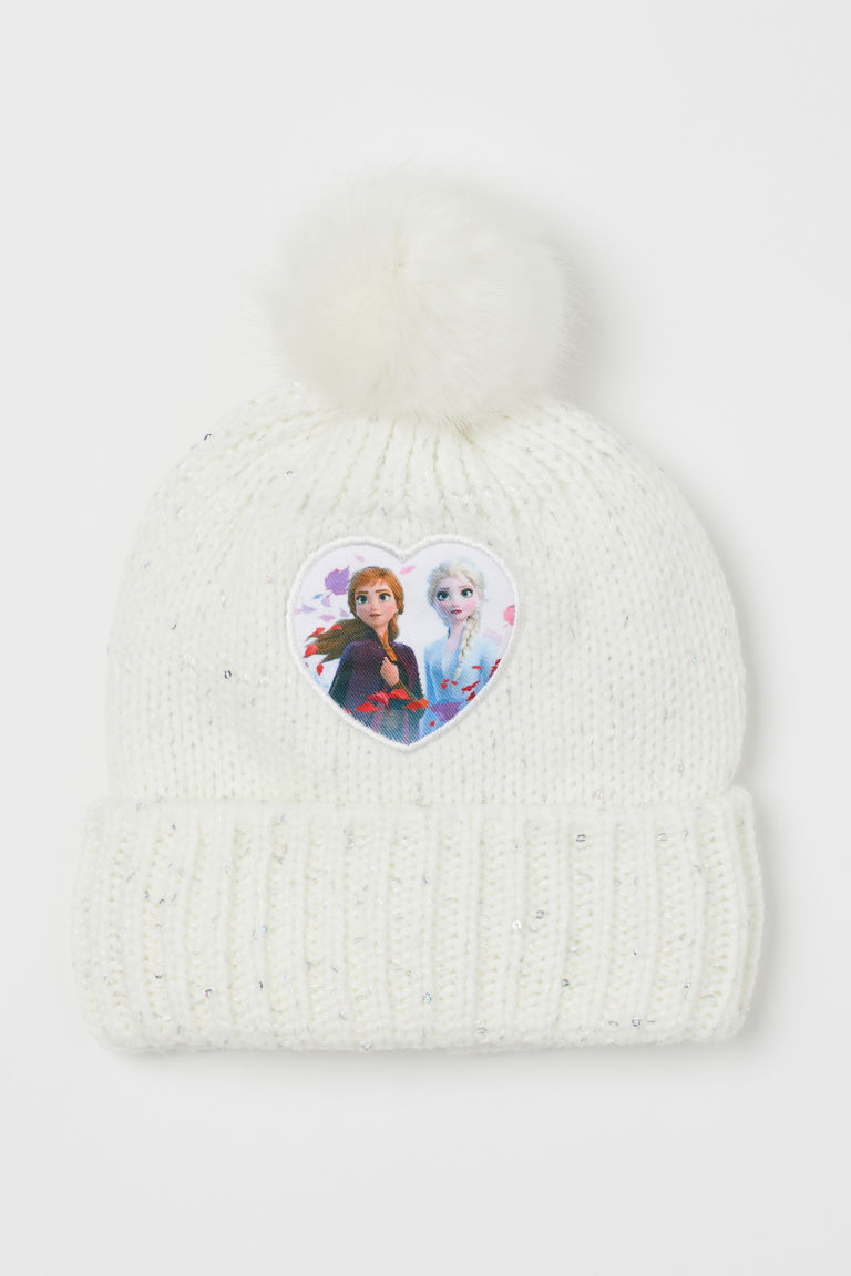 Hat with Appliqué - White/Frozen - Kids | H&M US