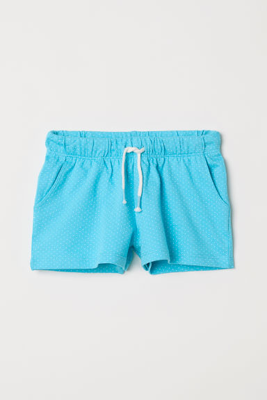 Shorts in jersey - Turchese/pois -  | H&M IT