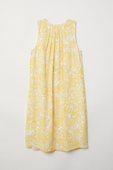 Crêpe dress - Yellow/Patterned - Ladies | H&M CN