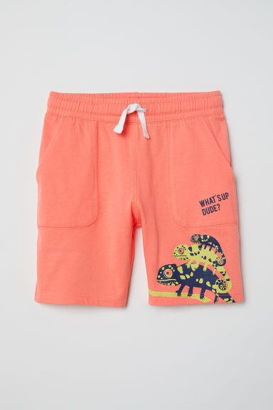 Jersey shorts - Orange/Chameleon - Kids | H&M CN