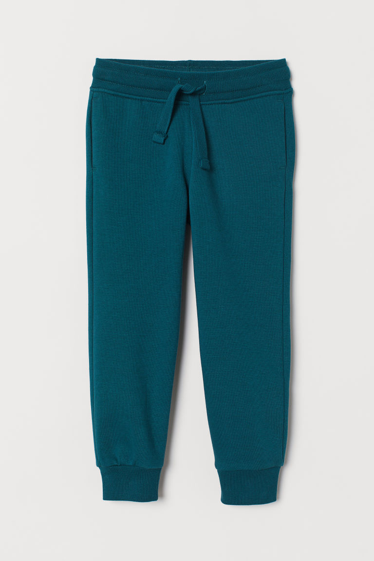 Cotton-blend joggers - Dark green - Kids | H&M CN