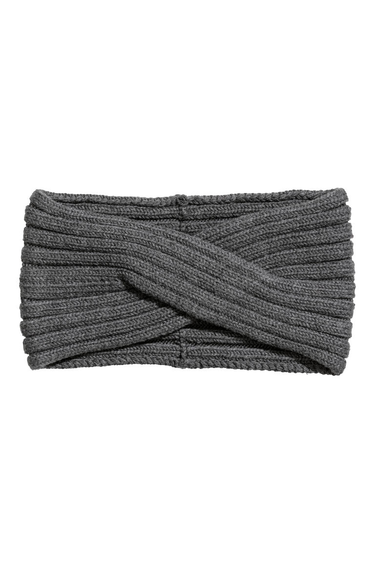 Ribbed headband - Dark grey - Ladies | H&M GB