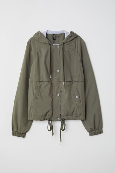 Hooded jacket - Green -  | H&M