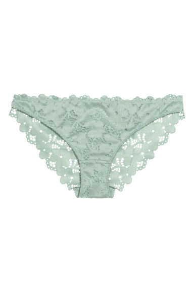 Lace bikini briefs - Mint green -  | H&M