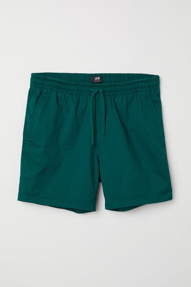 Cotton shorts - Dark green - Men | H&M