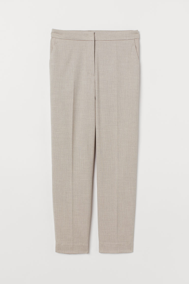 Cigarette trousers - Beige - Ladies | H&M GB