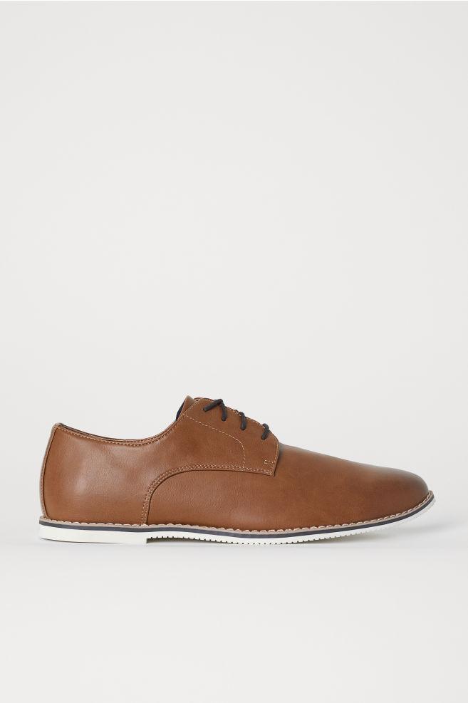 bade8f9c70f57 Sapatos Derby - Castanho claro - HOMEM | H&M ...
