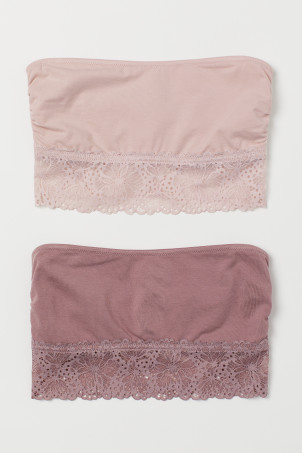 2-pack cotton bandeau bras