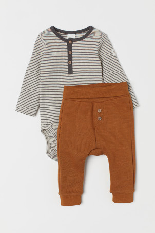 Body et pantalon en coton