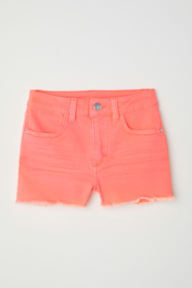Twill shorts - Light orange - Kids | H&M