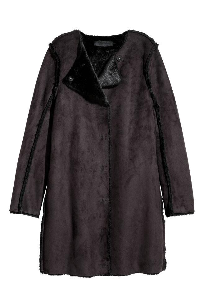 Tekomokkainen takki - Musta - NAISET  7e7852d27f