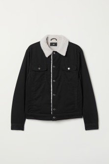 Pile-lined twill jacket