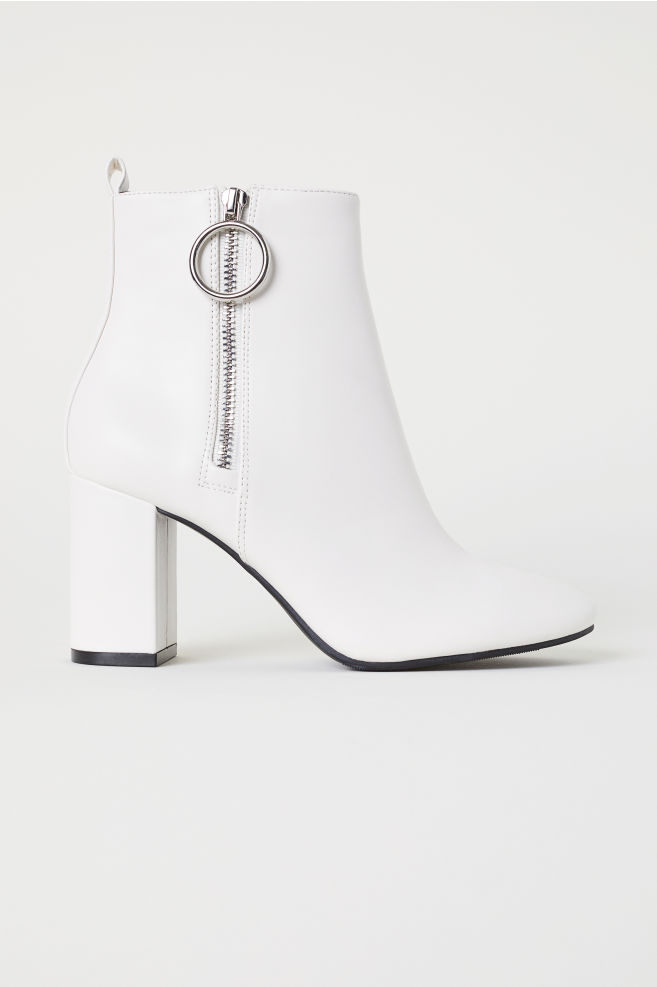 730b8114101 Ankle Boots with Zip - White - | H&M ...
