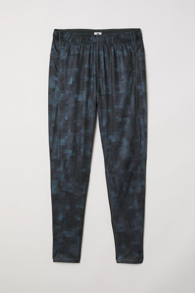 Sports trousers - Black/Grey patterned - Men | H&M