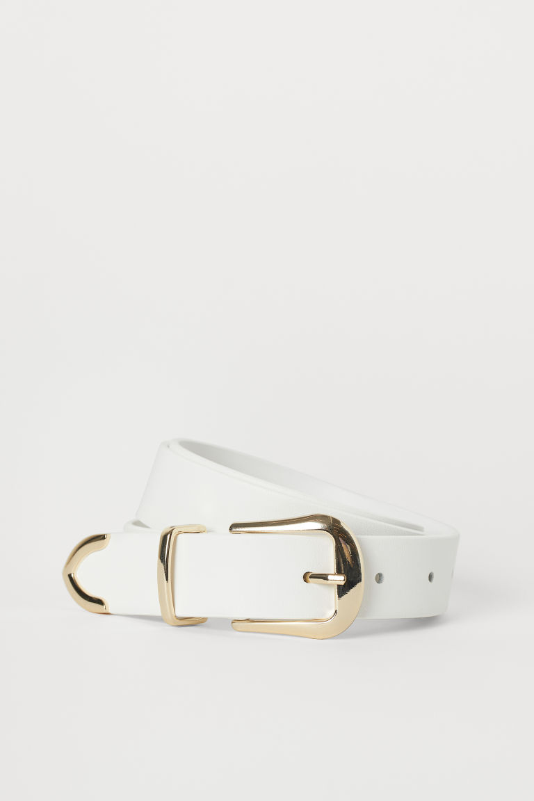 Belt with Metal Tip - White - Ladies | H&M CA