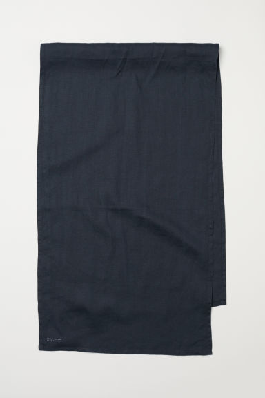 Washed linen table runner - Anthracite grey - Home All | H&M CN