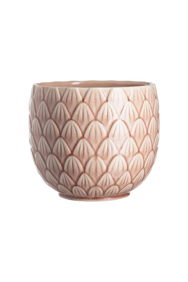 Stoneware plant pot - Old rose -  | H&M CN