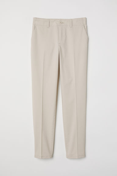 Cotton chinos - Light beige - Ladies | H&M GB