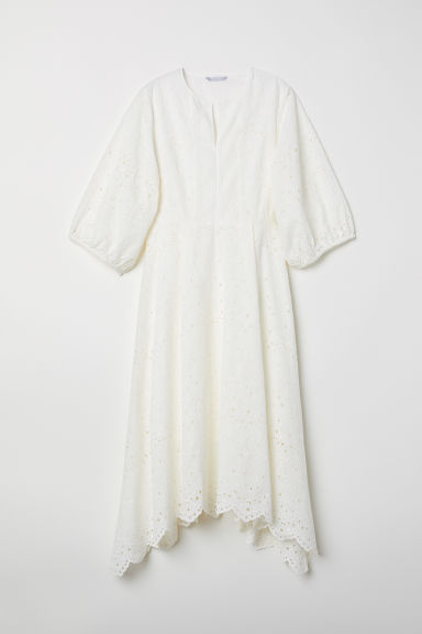 Dress - White - Ladies | H&M CN
